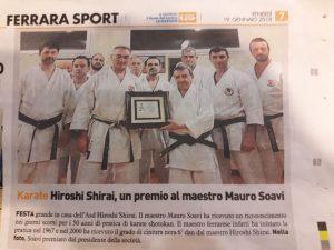 Cinquanta anni di Karate per il nostro maestro Mauro Soavi
